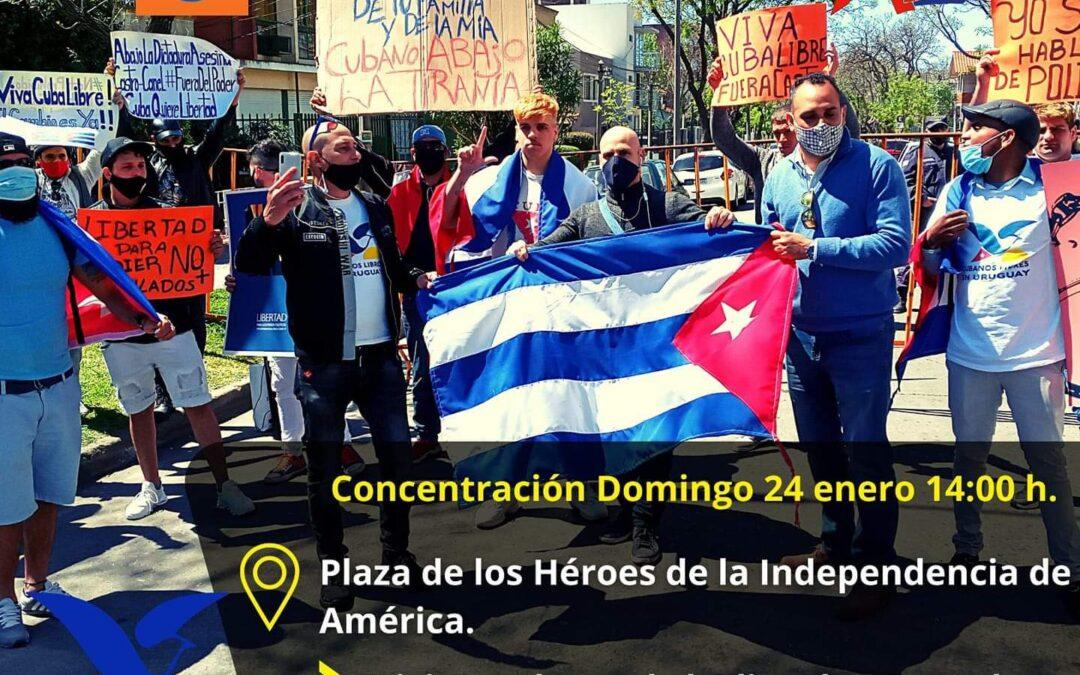 Convocatoria Manifestación Uruguay por Cuba