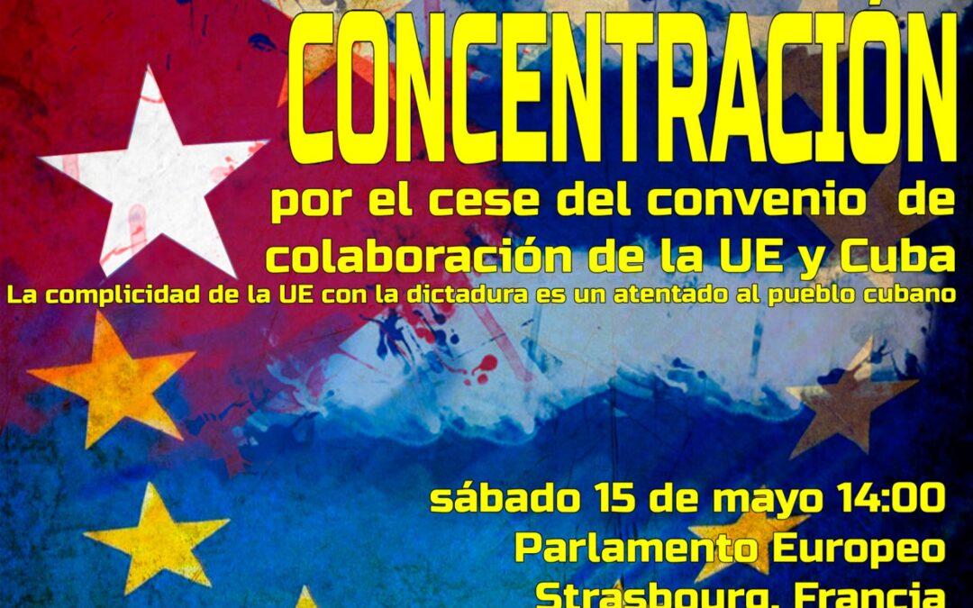 Ante la complicidad de la UE con Cuba; nos manifestamos en Estrasburgo