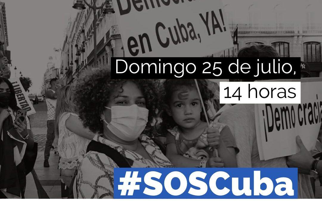 MacroManifestación #SosCuba en Madrid, Convocatoria Oficial.