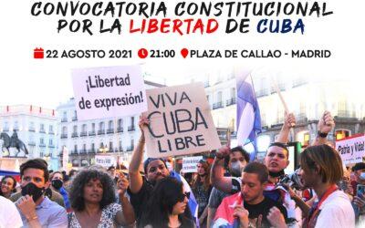 22 de agosto, nos manifestamos en #Madrid y otras ciudades  por Cuba, x la libertad de los pueblos suprimidos de derechos .