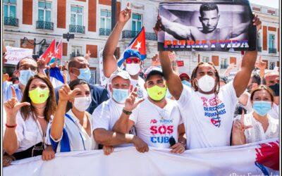 El 11 de Julio será recordado como el día del reclamo popular de #Libertad del pueblo cubano, el 25 de julio, sin embargo, está ya escrito como un día sin precedentes en la #Solidaridad con Cuba desde España.