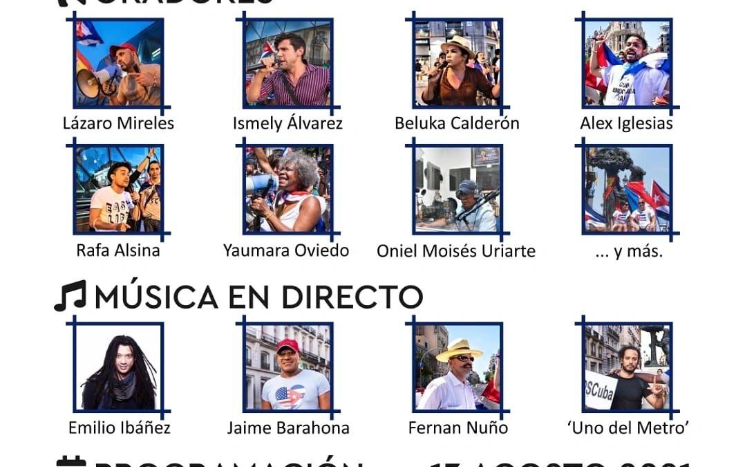 Seguimos defendiendo la Libertad de Cuba, nos manifestamos en Madrid este 13 de agosto.