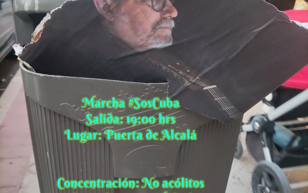 Ante el concierto de Silvio Rodríguez en Madrid, protestamos